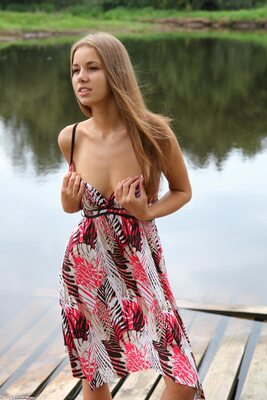 Picture tagged with: Brunette, Cute, Goddess Nudes, Marya, Nature