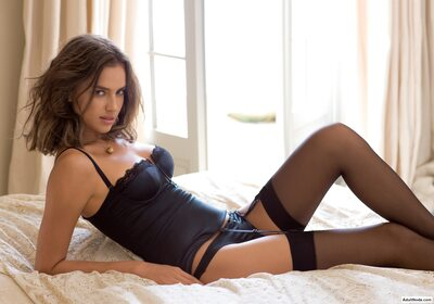 Picture tagged with: Brunette, Irina Sheik, Lingerie