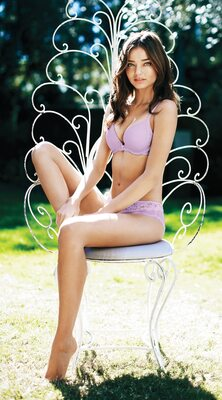 Picture tagged with: Brunette, Miranda Kerr, Lingerie