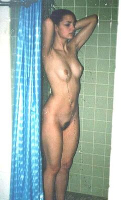 Picture tagged with: Brunette, Shower