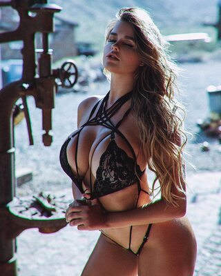 Picture tagged with: Busty, Blonde, Anastasia Kvitko - Анастасия Квитко, Boobs, Celebrity - Star, Lingerie