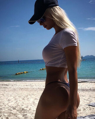 Picture tagged with: Busty, Blonde, Beach, Kate Kirienko