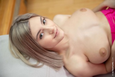 Picture tagged with: Busty, Blonde, Boobs, Eva Elfie, Smiling, Ultra Films