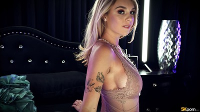 Picture tagged with: Busty, Blonde, Boobs, Gabbie Carter, Lingerie, Tattoo