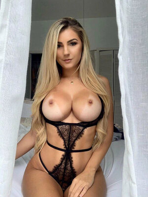 Picture tagged with: Busty, Blonde, Boobs, Lingerie, Polina Aura - Polina Sitnova