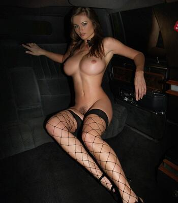 Picture tagged with: Busty, Brunette, Boobs, Car