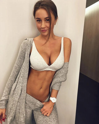 Picture tagged with: Busty, Brunette, Boobs, Cute, Olga Katysheva, Tummy