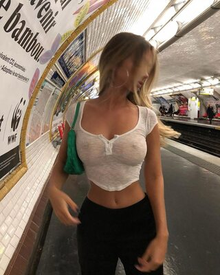 Picture tagged with: Skinny, Blonde, Busty, Mathilde Tantot, Boobs