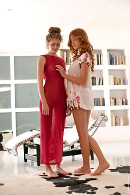 Picture tagged with: Do You Like My New Dress, Michelle Starr and Vanessa C, Lesbian