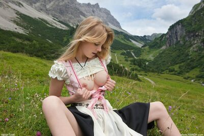 Picture tagged with: Femjoy, Blonde, Nature