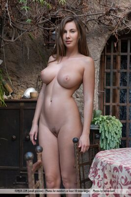 Picture tagged with: Femjoy, Busty, Brunette, Garden Eden, Josephine