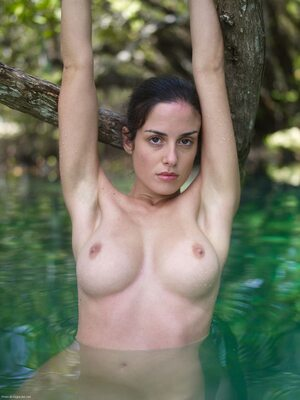 Picture tagged with: Brunette, Busty, Green Lagoon, Hegre Art, Muriel