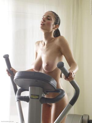 Picture tagged with: Brunette, Busty, Hegre Art, Muriel, Techno Gym