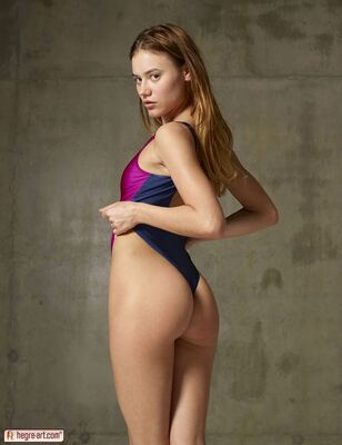 Picture tagged with: Hegre Art, Ksenia, Two Tone Malibu Swimsuit