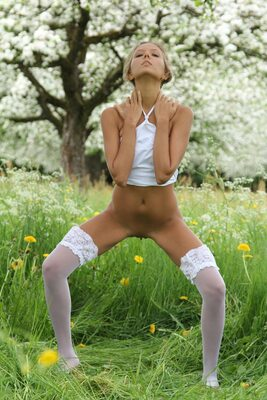 Picture tagged with: MET Art, Blonde, Aethria, Katya Clover - Mango A, Nature