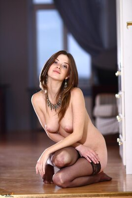 Picture tagged with: Bringing, Brunette, Danica - Anita C, MET Art
