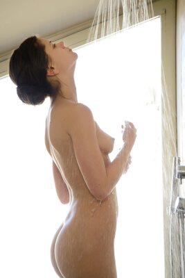 Picture tagged with: Brunette, Ensha, Little Caprice, MET Art, Shower