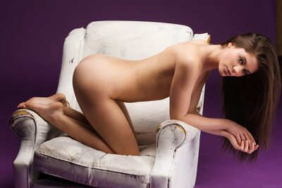 Picture tagged with: Brunette, Little Caprice, MET Art, Nipase