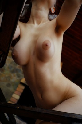 Picture tagged with: Brunette, Busty, Eva Elfie, MET Art, Boobs
