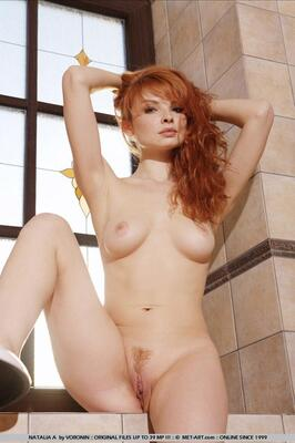 Picture tagged with: MET Art, Natalia A, Redhead