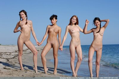 Picture tagged with: Skinny, MET Art, 4 girls, Beach