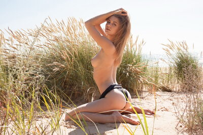 Picture tagged with: Skinny, Blonde, MET Art, Patritcy A, Yalline, Beach, Nature