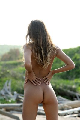 Picture tagged with: Skinny, Blonde, Katya Clover - Mango A, MET Art, Myccio, Nature
