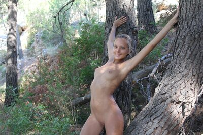Picture tagged with: MET Art, Skinny, Blonde, Katya Clover - Mango A, Nature, Plenumita