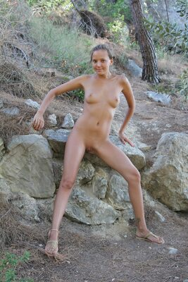 Picture tagged with: Skinny, Blonde, Katya Clover - Mango A, MET Art, Plenumita, Nature