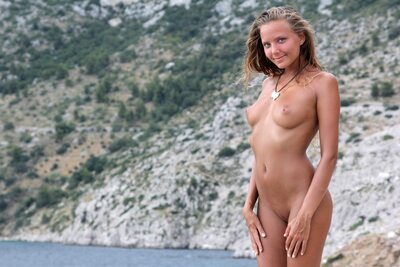 Picture tagged with: Skinny, Blonde, Katya Clover - Mango A, MET Art, Sithonia, Nature