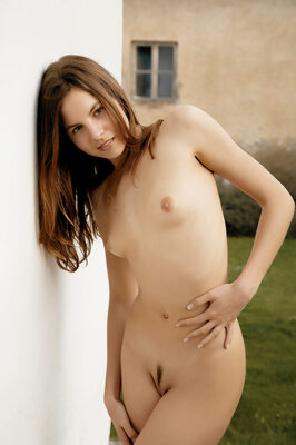 Picture tagged with: Skinny, Altea B, Brunette, Inerzia, MET Art, Flat chested, Small Tits, Tummy