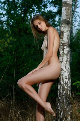 Picture tagged with: MET Art, Skinny, Brunette, Elle Tan, Nature, Noate