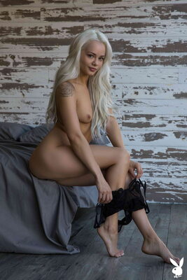 Picture tagged with: Playboy, Skinny, Blonde, Elsa Jean, Flat Chested, Small Tits, Tattoo