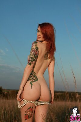 Picture tagged with: Redhead, Tattoo