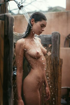 Picture tagged with: Skinny, Beāte Muška, Brunette, Playboy, Cute, Shower, Small Tits