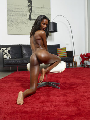 Picture tagged with: Skinny, Black, At Home, Hegre Art, Valerie, Ass - Butt