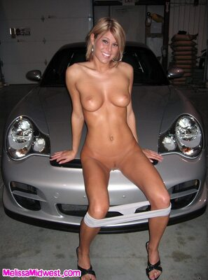 Picture tagged with: Skinny, Blonde, Car