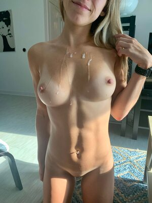 Picture tagged with: Skinny, Blonde, Cumshot, cuntnugget-22, Boobs, Fit, Piercing, Tummy