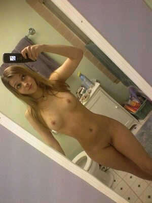 Picture tagged with: Skinny, Blonde, Selfie, Small Tits