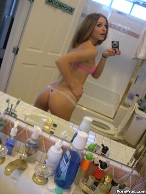 Picture tagged with: Skinny, Brunette, Kasey Chase, Ass - Butt, Lingerie, Selfie, Small Tits