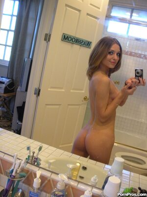 Picture tagged with: Skinny, Brunette, Kasey Chase, Ass - Butt, Selfie, Small Tits
