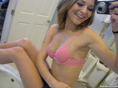 Picture tagged with: Skinny, Brunette, Kasey Chase, Cute, Lingerie, Selfie, Small Tits, Smiling