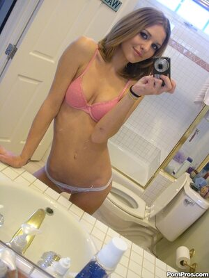 Picture tagged with: Skinny, Brunette, Kasey Chase, Cute, Lingerie, Selfie, Small Tits, Tummy