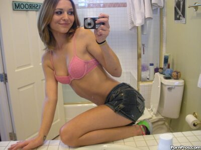 Picture tagged with: Skinny, Brunette, Kasey Chase, Cute, Lingerie, Selfie, Small Tits