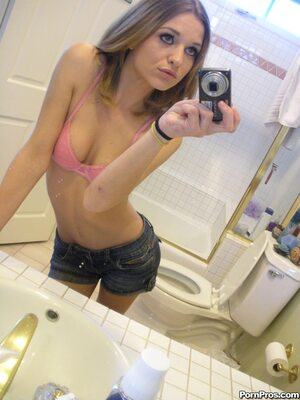 Picture tagged with: Skinny, Brunette, Kasey Chase, Selfie, Small Tits