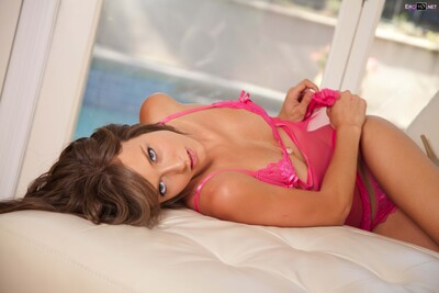 Picture tagged with: Skinny, Brunette, Lingerie, Malena Morgan