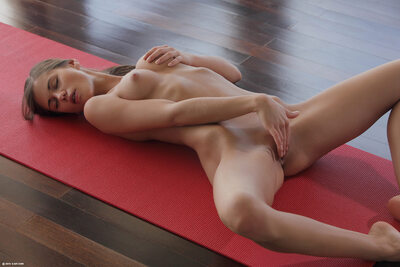 Picture tagged with: Skinny, Brunette, Little Caprice, Sexy Yoga Cutie, X-Art, Cute, Masturbation, Small Tits