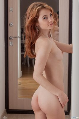 Picture tagged with: Skinny, Marta Gromova, Redhead, Ass - Butt, Cute, Small Tits