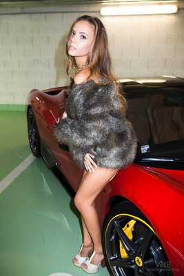 Picture tagged with: Blonde, Ferrari, It would be a ride, Katya Clover - Mango A, Watch4Beauty