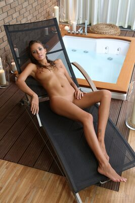 Picture tagged with: Blonde, Jacuzzi, Katya Clover - Mango A, Watch4Beauty